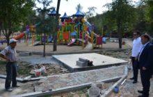 Gümüşhane Valisi Sema Doğan Parkı ve Kent Parkı'nda İncelemelerde Bulundu