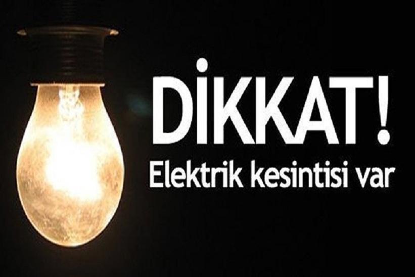 Dikkat! Pazar günü elektrik kesilecek