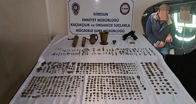 Gümüşhane'den Tarihi Eser Kaçakçılığı Yapanlar Giresun da Yakalandılar