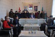 Genç Kızlar Voleybol İl üçüncülerinden, Başkan Yılmaz'a Ziyaret
