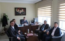 Kaymakam Yavuz İlçe Adliyesinde Göreve Başlayan Hakim Fevzi Kahraman'ı Ziyaret Etti.