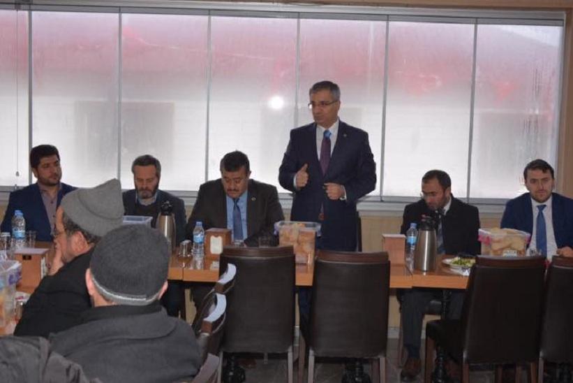 Kaymakam Yavuz Başkan Yılmaz Müftü Şahin Muhabbet Yemeğine Katıldılar