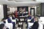 Bilek Güreşi Türkiye Şampiyonasında İkinci Olan Sporcu Ve Kelkit Gençlik Hizmetleri Ve Spor İlçe Müdürü Cem İlkay Mansuroğlu kaymakam Naif Yavuz'u Makamında Ziyaret Ettiler