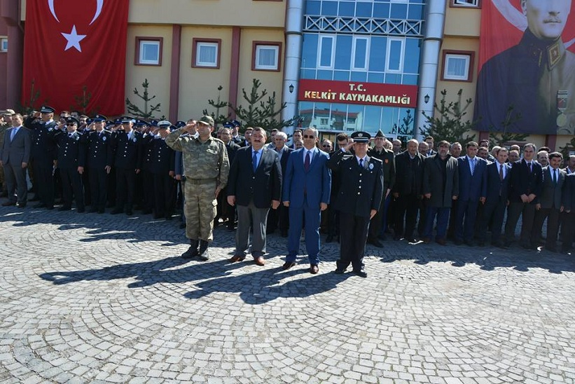 Kelkit Te Türk Polis Teşkilatının 172. Kuruluş Yıl Dönümü Törenle Kutlandı