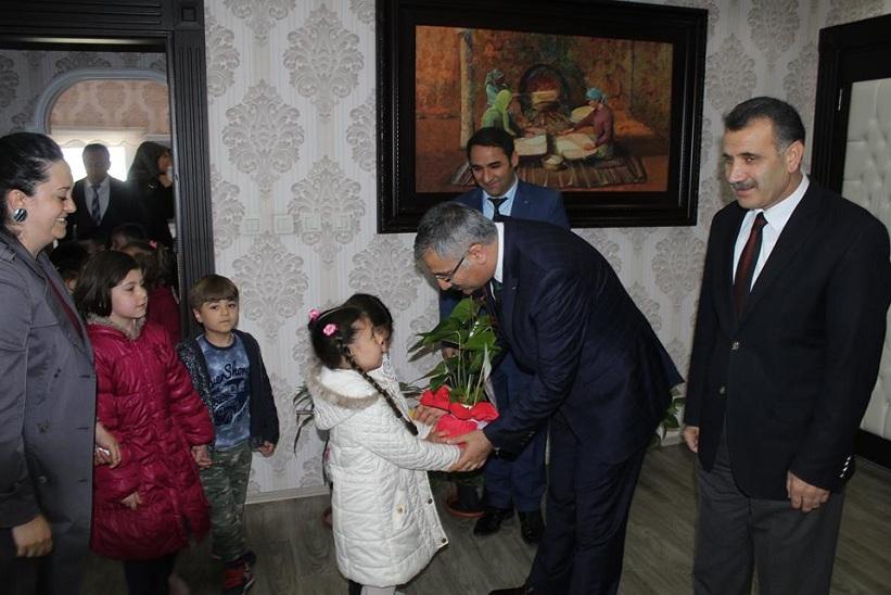 Ülker Ve Kemalettin Başar Anaokulu Öğrencileri Kaymakam Yavuz'u Ziyaret Etti