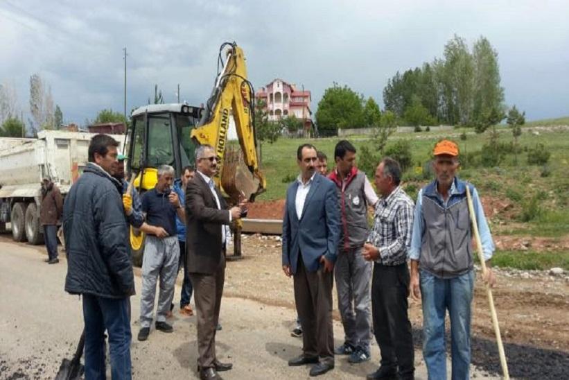 Kaymakam Yavuz Yapımı Devam Eden Köy Ve Yayla Yollarını İnceledi