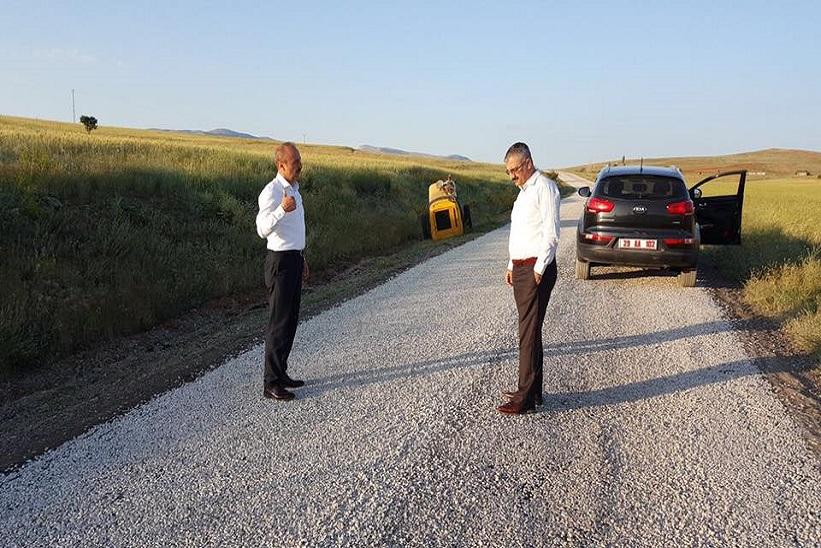 Kaymakam Yavuz Grup Köy Yollarının Asfalt Yapım Çalışmalarını İnceledi