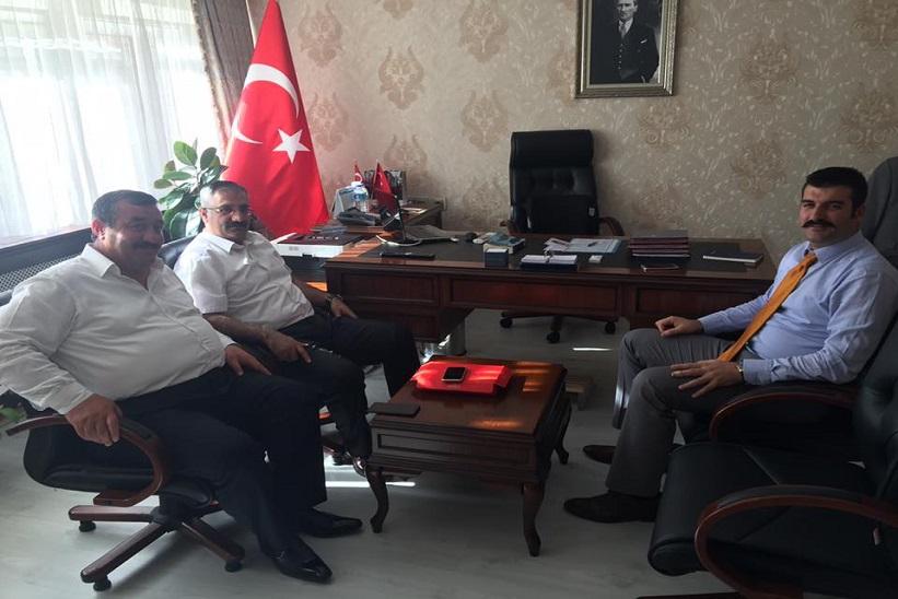 Başkan Yılmaz Kaymakam Yavuz Yeni Atanan Gümüşhane Vali Yardımcısını Ziyaret Etti.