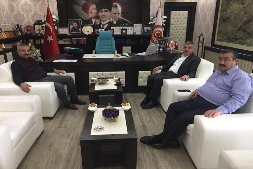 Milletvekili Çevre Komisyonu Başkanı Pektaş Başkan Yılmaz Kaymakam Yavuz'u Ziyarette Bulundular