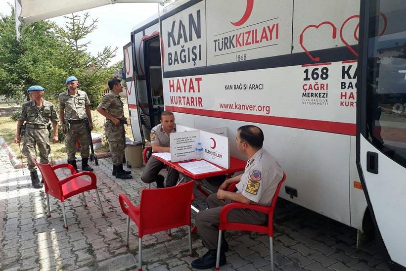 İlçe Jandarma Kan Bağışında Bulundu