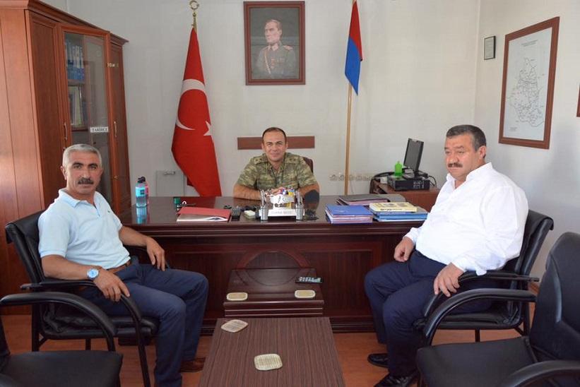 Kelkit Jandarma Komutanlığına Atanan Jan. Üst.  Özgün Gezici'yi Başkan Yılmaz Ziyaret Etti