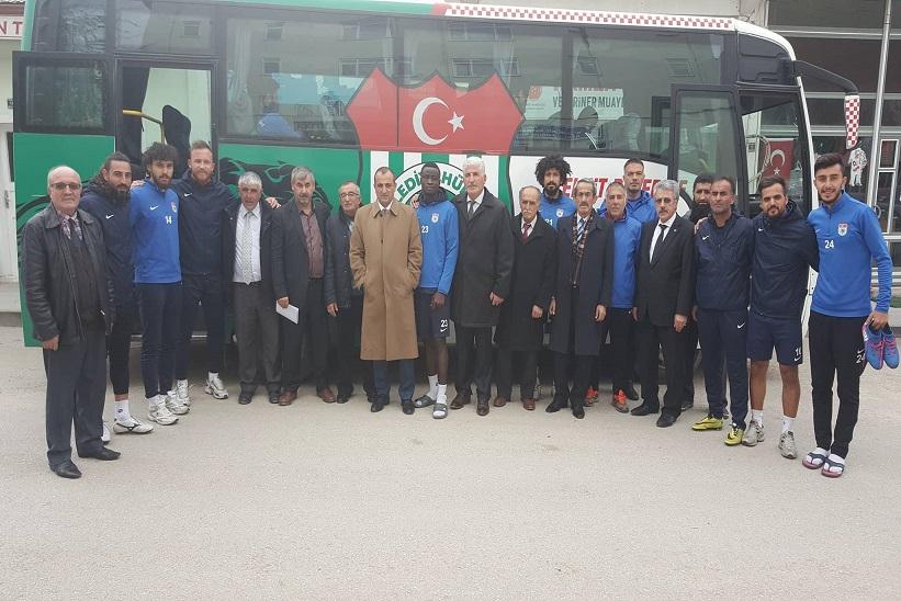 Ankara Genel Merkez'den Kulübe Geçmiş Olsun'a Gelen Heyet Onurla Karşılandı.