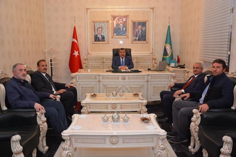 Başkan Yılmaz Erzincan Belediye Başkanımız Cemalettin Başsoy'u Makamımızda Ağırladık