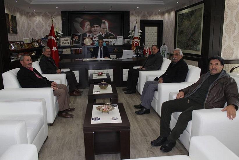 CHP İlçe Başkanı Canpolat Ve Beraberindekiler Kaymakam Yavuz'a Nezaket Ziyaretinde Bulundular
