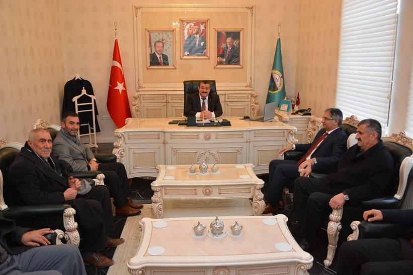 Kaymakam Yavuz Başkan Yılmaz İstişare Toplantısı Gerçekleştirdiler.