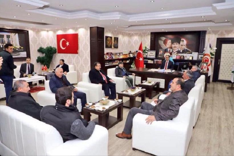 Milletvekilleri Kaymakam Yavuz'u Ziyaret Ettiler.