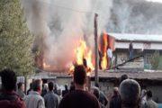 Söğütlü'de Yangın ; Evi Kullanılamaz Hale Getirdi