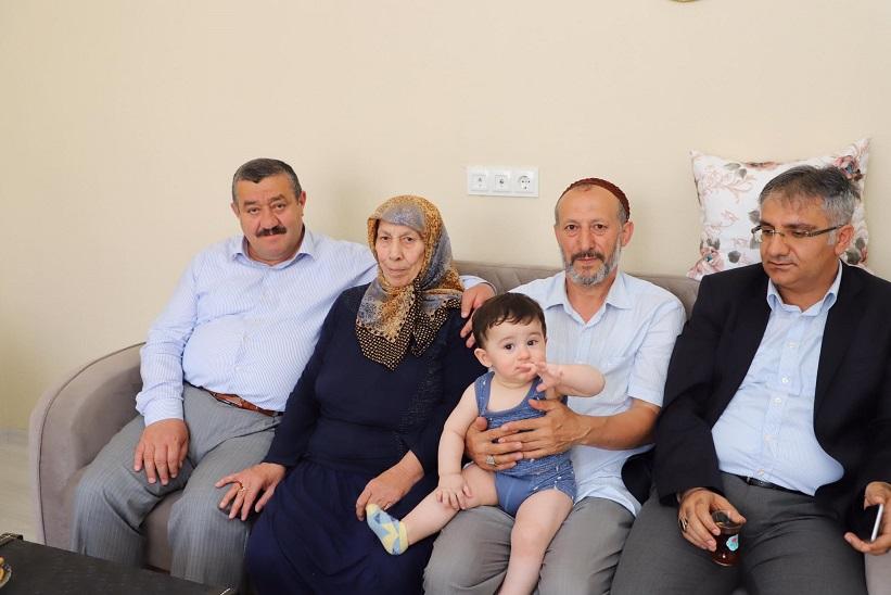 Kaymakam Yavuz Ve Başkan Yılmaz Şehit Ailesini Ziyaret Ettiler