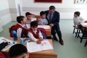 Milli Eğitim Müdürü Yücel Çiftlik Okulunu Ziyaret Ederek Öğrencilere Başarılar Diledi