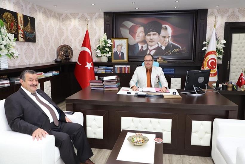 Başkan Yılmaz Kelkit Kaymakamlığı Görevine Vekalet Eden Ali Arıkan'ı Ziyaret Etti.