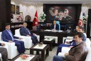 Başkan Yılmaz Yeni Atanan Kaymakamımız Aziz Onur Aydın'ı Makamında Ziyaret Ettik