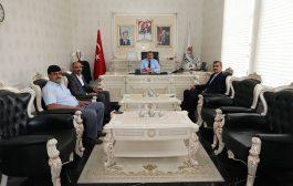 Başkan Yılmaz Ak Parti Köse İlçe Başkanımız Sinan Pala'yı Makamımızda Misafir Ettik
