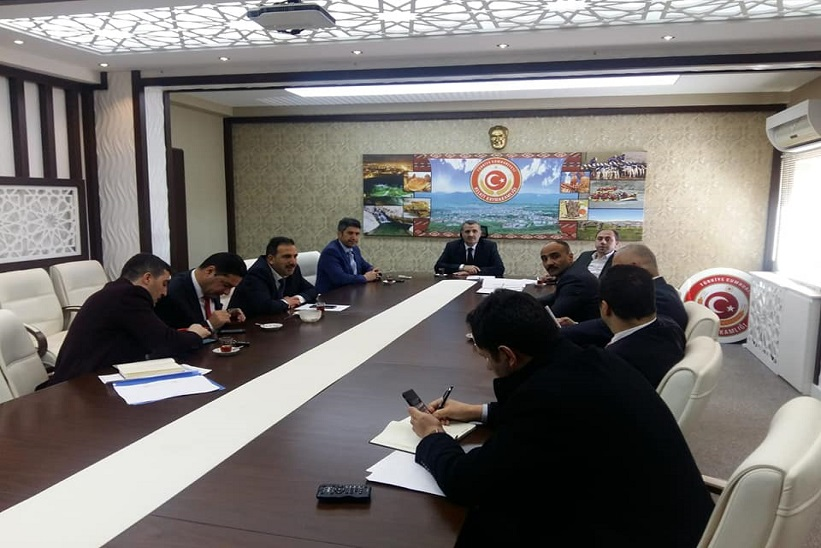 İlçe Milli Eğitim Müdürü Yücel Başkanlığında Toplantı Gerçekleştirildi.