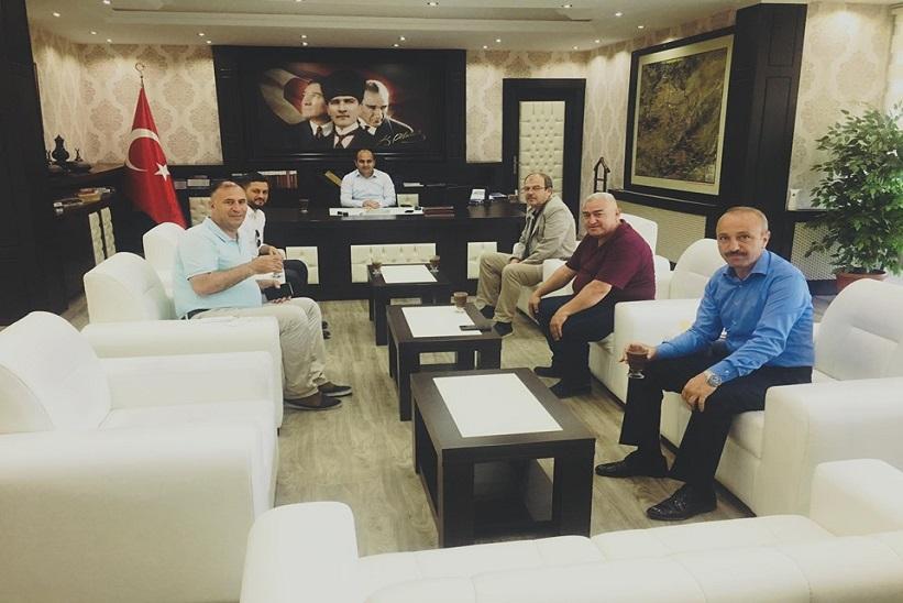DOKAP İdaresi Başkanı Ve Beraberindekiler Kaymakam Aydın'ı Ziyaret Ettiler